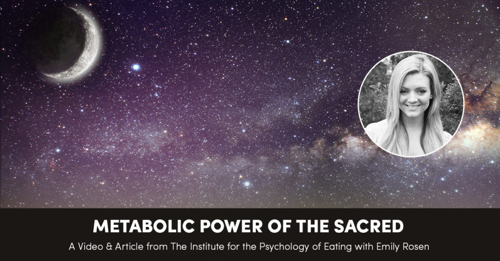 The Metabolic Power of the Sacred