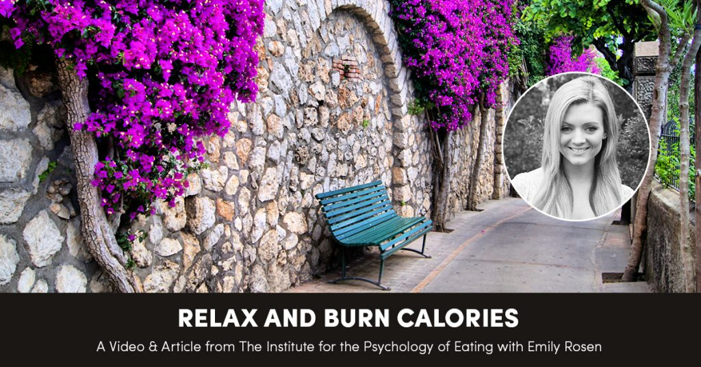 Relax and Burn Calories