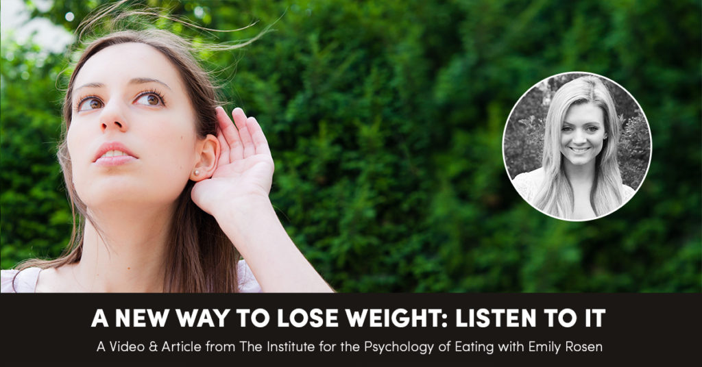 A New Way To Lose Weight: Listen To It