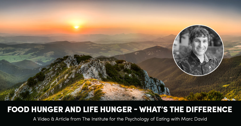 Food Hunger and Life Hunger: What's the Difference