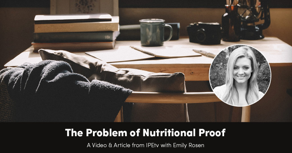 The Problem of Nutritional Proof